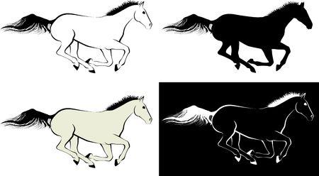 horse - clip art illustration and line art