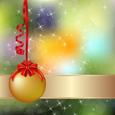 colorful blurred background with Christmas ornament