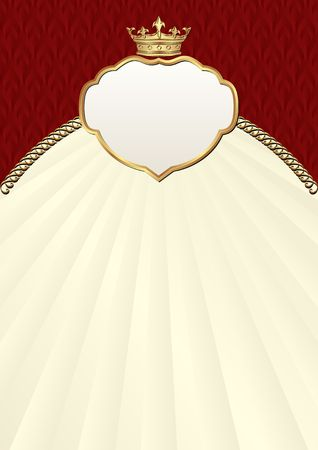 vintage background with crown and golden frame