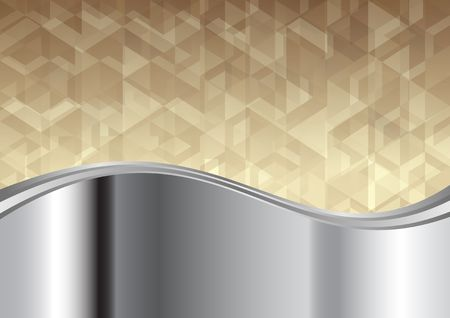 metal background with geometrical texture Vettoriali