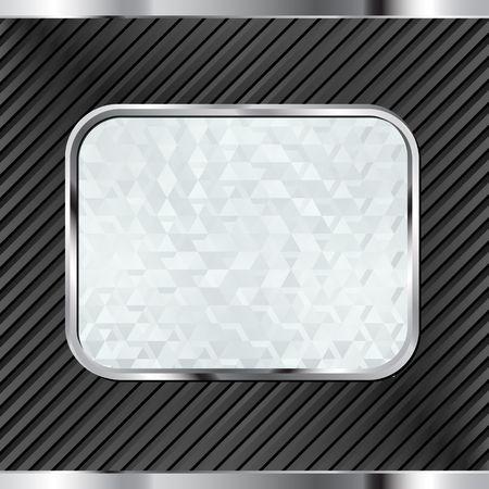 sfondo nero con banner vetroso