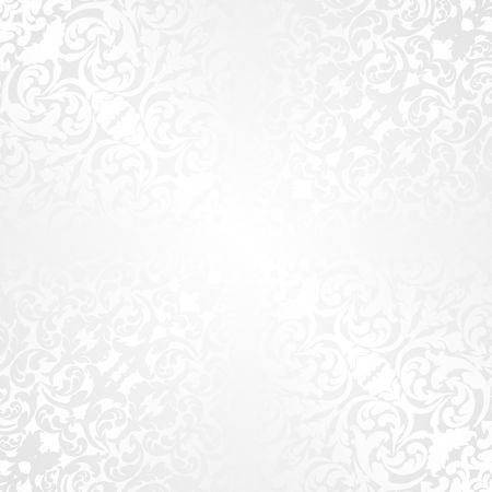 white background with old-fashioned pattern Vector Illustratie