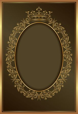 royal background with golden frame Ilustração