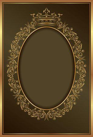 royal background with golden frame 矢量图像