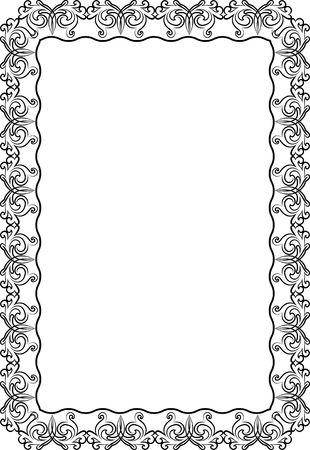 siluetas de marco vintage Ilustración de vector
