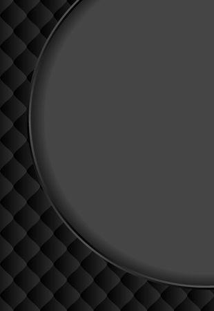 black background with vintage pattern and round banner Ilustração