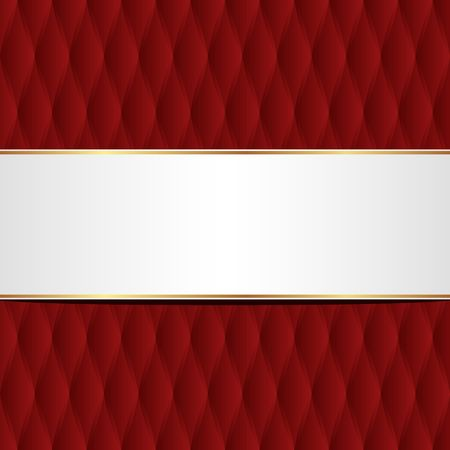 red background with decorative pattern and copy space Illusztráció