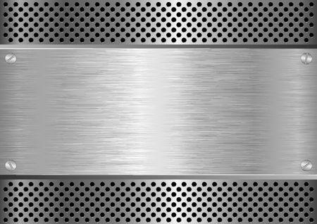 metal textured background Illustration