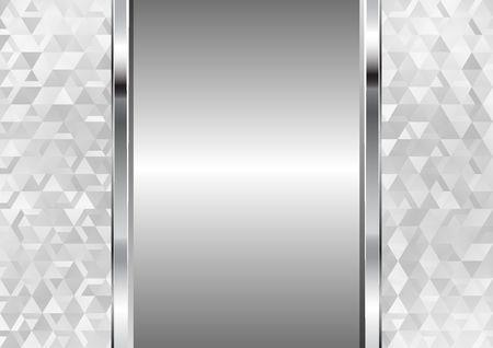 metallic background and geometrical pattern