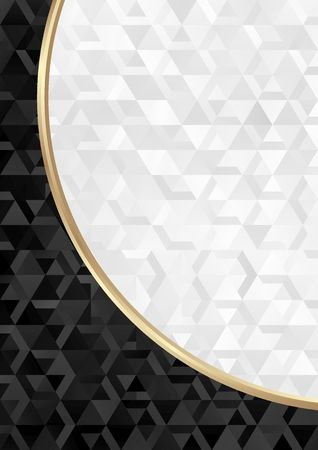 black and white background with geometrical shapes Illustration