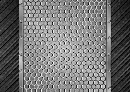 metal grate background Vetores