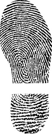 shape of shoe with fingerprint