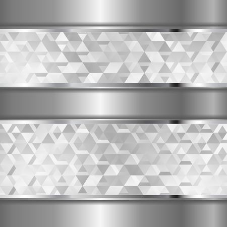 metal background with textured banners
