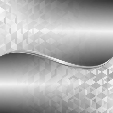 gray background with abstract geometric pattern Vettoriali
