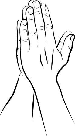 Sketch of praying hands