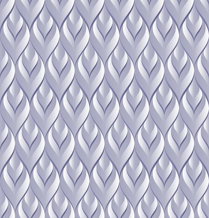 decorative background with 3D ornament, seamless pattern Ilustrace