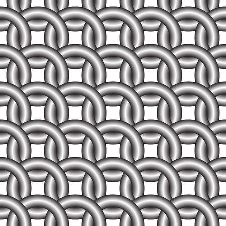 joined metal rings, seamless pattern