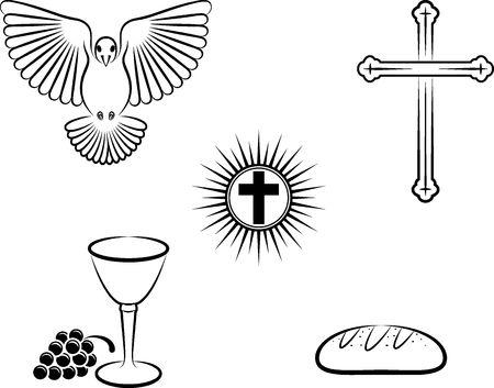 simboli del cristianesimo Vettoriali