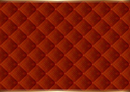 Background with decorative pattern, quilted textile Illustration