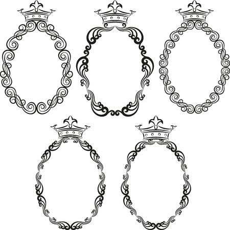 set of frames with crowns