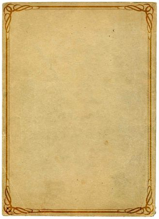 old card paper with decorative frame