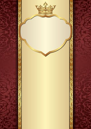 antique background with royal frame Illustration