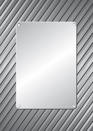 metal plaque on metallic background