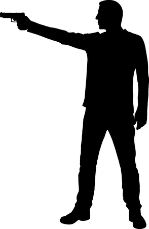 man with a gun silhouette