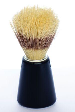 Shave brush on white background