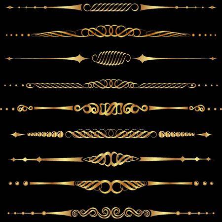 set of golden separators and dividers Vecteurs