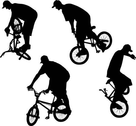 Male doing bike trick