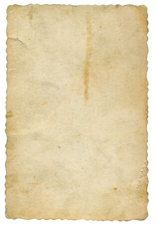 old yellowed card of paper Stock fotó