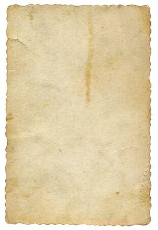 vieja tarjeta de papel amarillento Foto de archivo