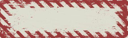 Grunge long banner with danger symbol 일러스트