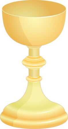 isolated golden goblet