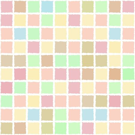 background with square shapes with uneven edges, seamless pattern