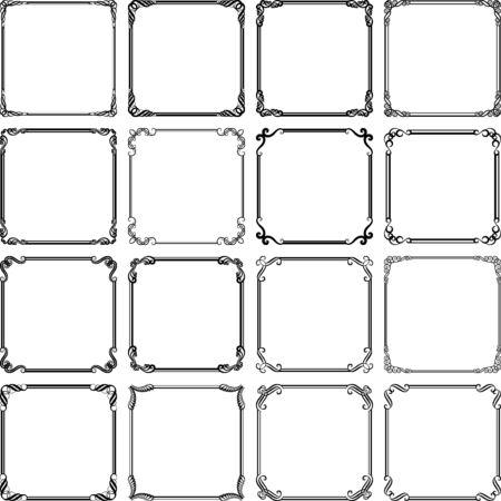 conjunto de marcos vintage aislados