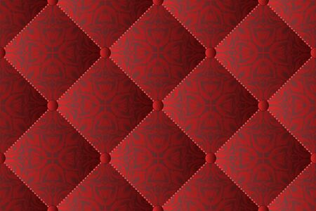 quilted fabric with a floral design, seamless pattern Stock Illustratie