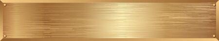 goldenes, metallisch strukturiertes langes Banner Vektorgrafik