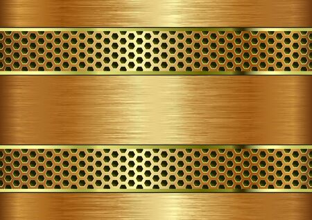 golden textured background with metal grate