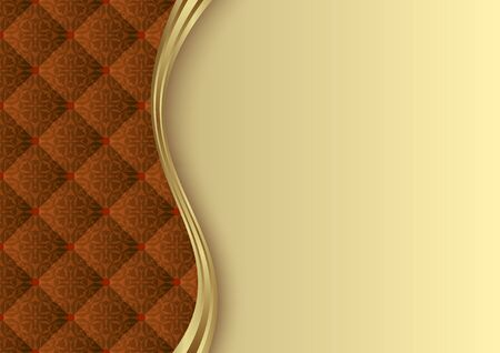 golden background with vintage pattern