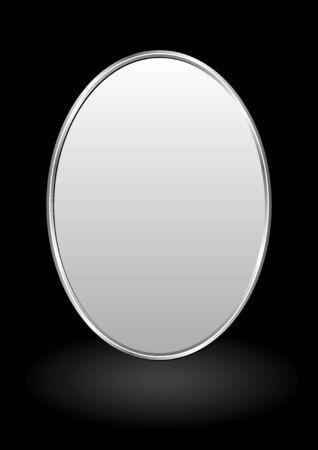 fond noir avec bannière ovale Vecteurs