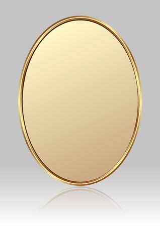 plaque dorée sur fond gris brillant