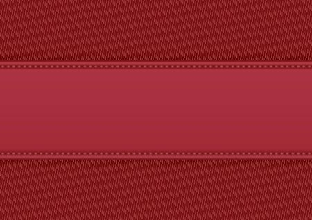 red fabric background with copy space