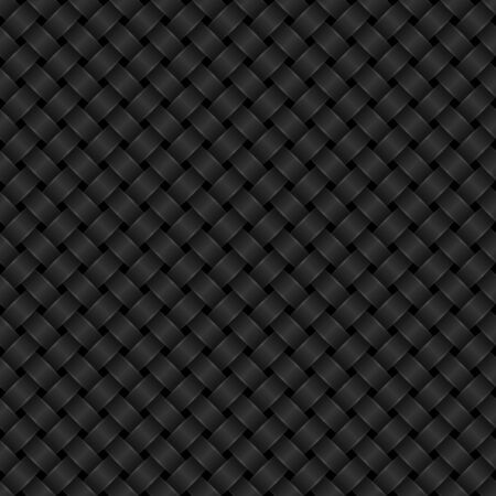 Black interlaced seamless pattern