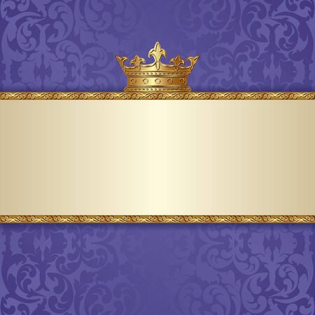 Decorative with crown and floral pattern