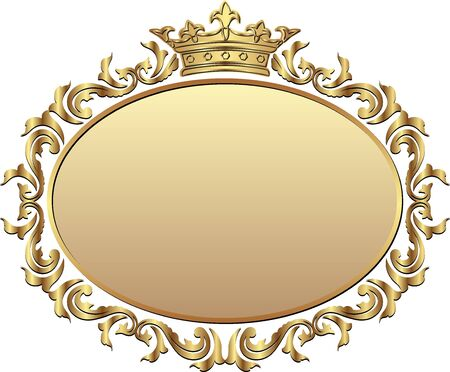 isolated royal frame with crown