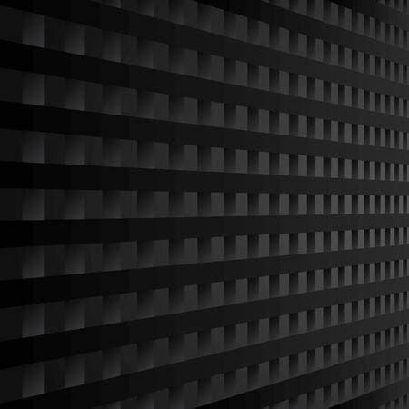 black geometric background with perspective  Illustration