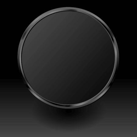 black plate on black background