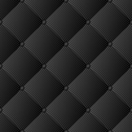 Black quilted buttoned knitwear, seamless pattern Vecteurs